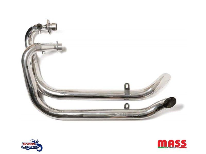"""MASS Moto Ligne Inox """"Hot-Rod"""" pour pour Triumph Twins"""