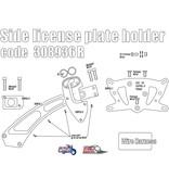 Free Spirits Side License Plate Kit for Bobber/Speedmaster