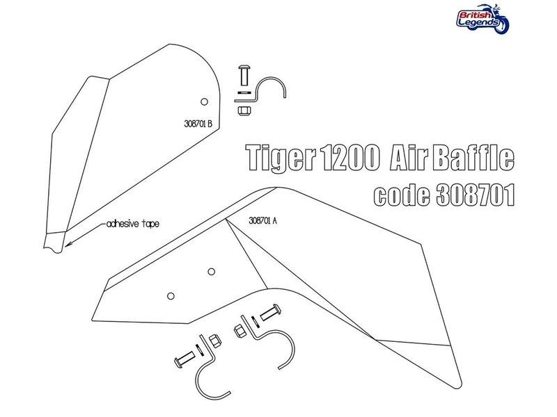 Free Spirits Déflecteurs d'Air Moteur Triumph Tiger 1200