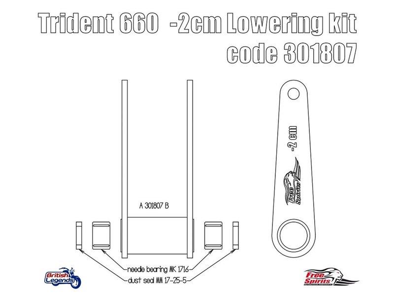 Free Spirits Lowering Kit -20mm for Triumph Trident 660