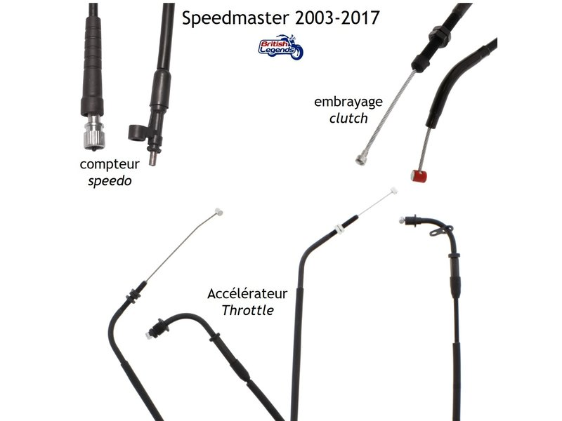 Replacement Cables for Triumph Speedmaster