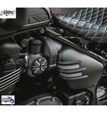 """Motone Ribbed """"Flat-Track"""" Side Covers for Triumph Twins"""