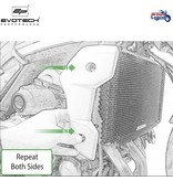 EvoTech Radiator Protection for Triumph Trident 660