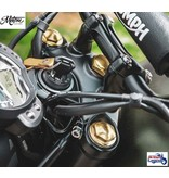 Motone Solid Brass Fork Caps for Triumph Twins