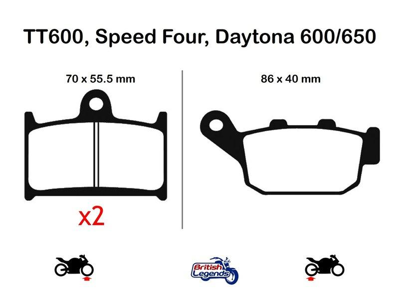 "EBC ""HH"" Sintered Pads for Triumph 600/650cc"