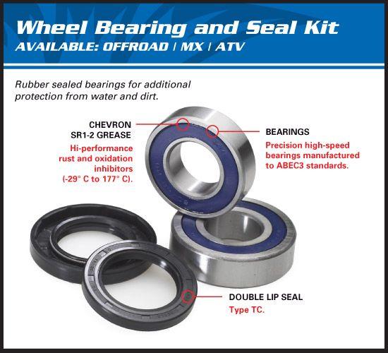 Triumph Speed Master 2006 Replacement All Balls Rear Wheel Bearing kit