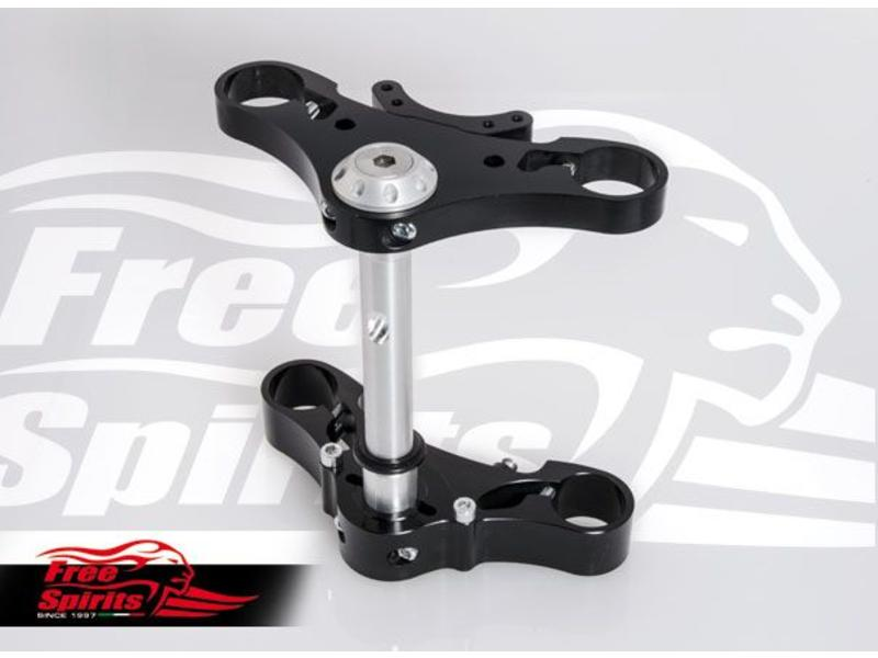 Free Spirits Solid Alloy Triple Clamps for Triumph Twins