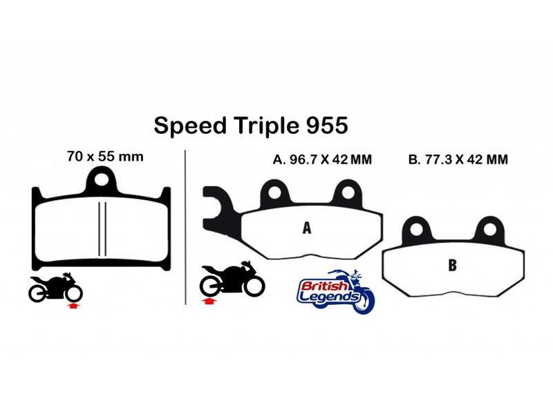 """EBC Plaquettes Sintérisées """"HH"""" Triumph Speed Triple"""