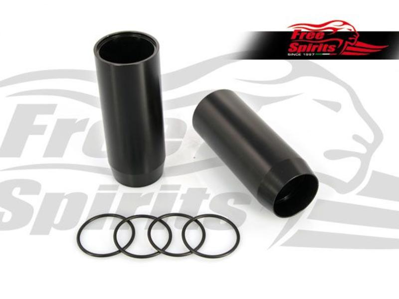Free Spirits Black Alloy Fork Sleeves for Triumph Twins