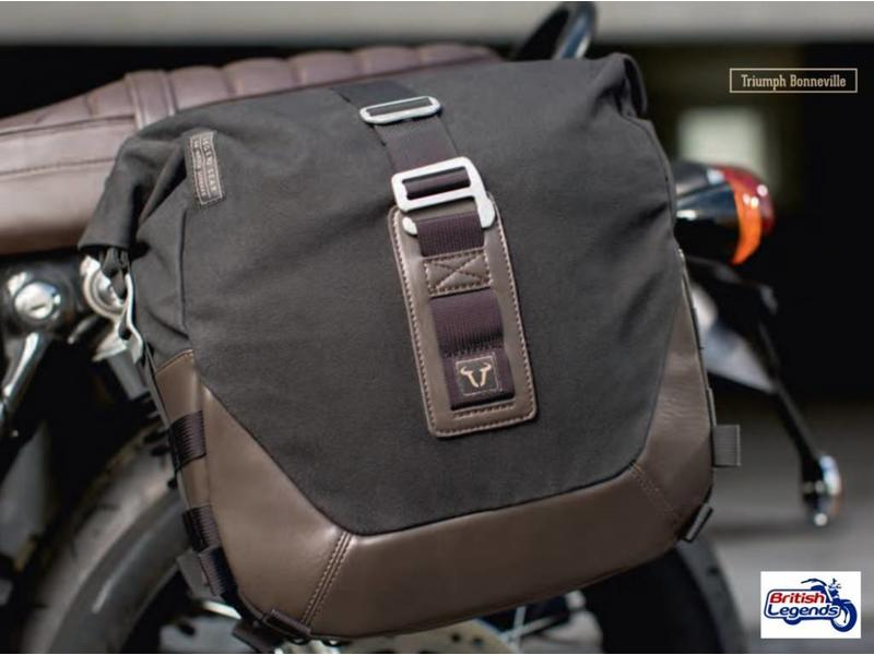 Canvas Saddle Bag with Fitting Kit (L or R side)