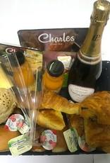 Champagne ontbijtmand voor 2 personen