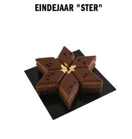 Chocolade ster gebak 4-6pers