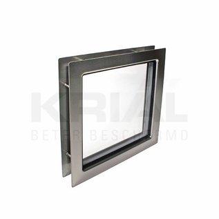 Krial Inox venster vierkant