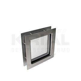Krial Inox venster vierkant, klein