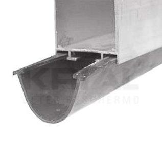 Krial Onderrubber voor sectionale poort met alu onderprofiel