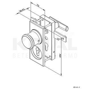 Krial Kit slotsysteem opbouw Zwart of Alu