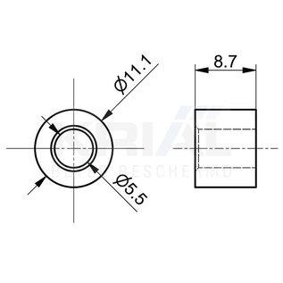 Krial Kabelklem 3mm/4mm