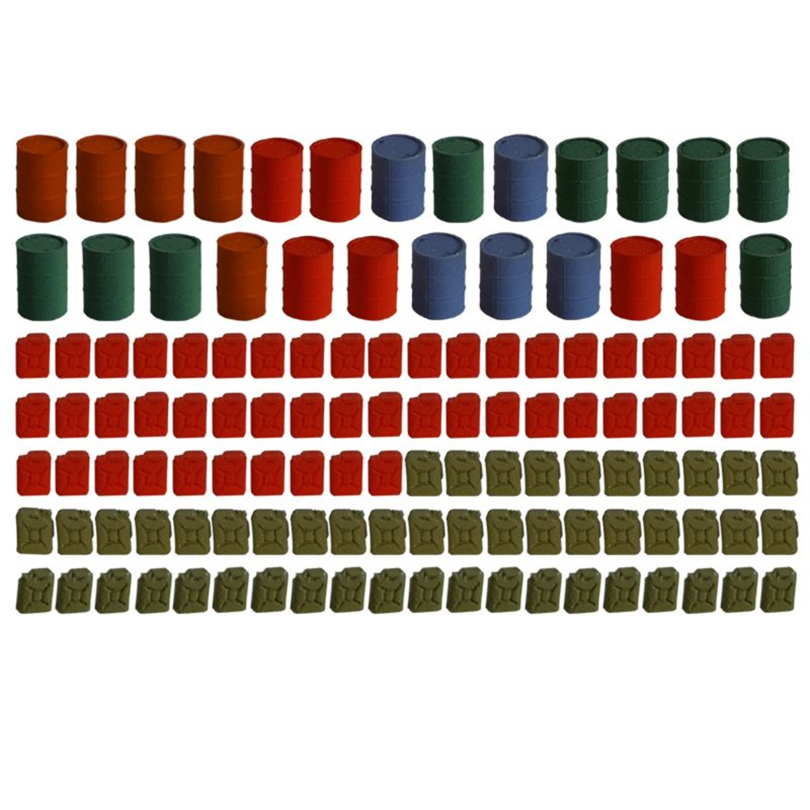 Jerry cans & barrels 125 pieces