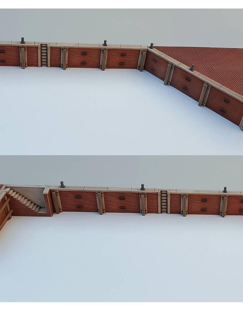 Quay wall from brick V