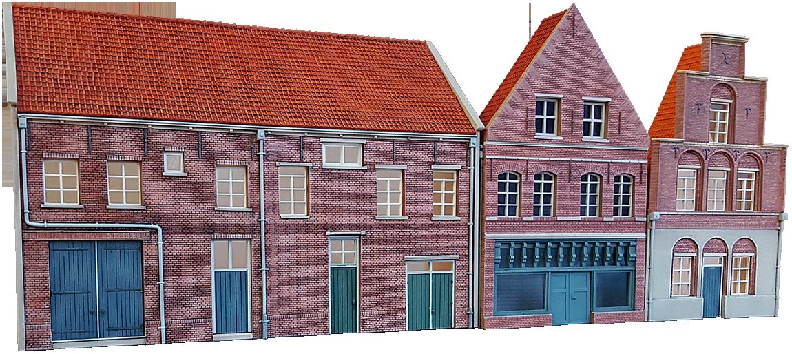 Gevel muurhuis en woning