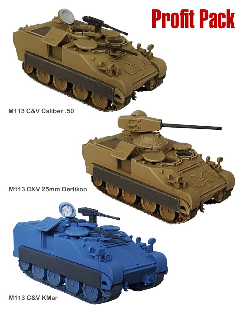 M113 C&V  Profit Pack. Oerlikon 25mm, Caliber .50 en KMar