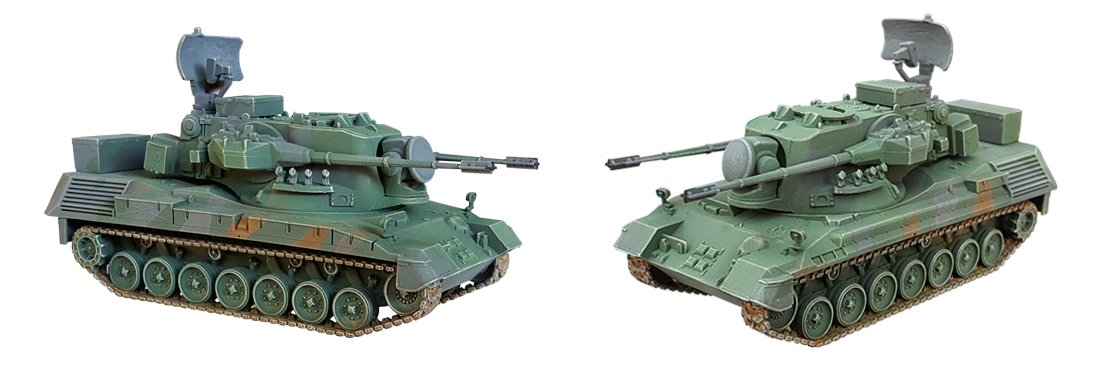 Flakpanzer Gepard A2 1/87 H0 Resin kits