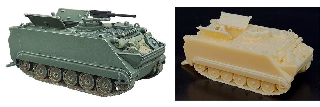 M113 120mm mortar 1/87 H0 Resin kits
