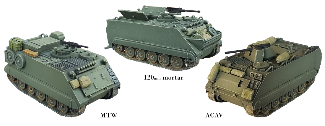 M113 ACAV, 120mm mortar, MTW 1/87 H0