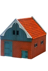 Barn with a gable roof