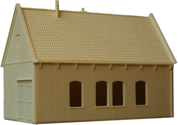 Large wooden barn