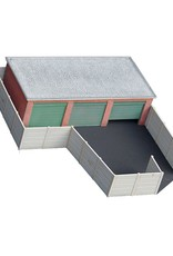 Brick garage flat roof