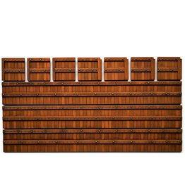 Hardwood quay-wall
