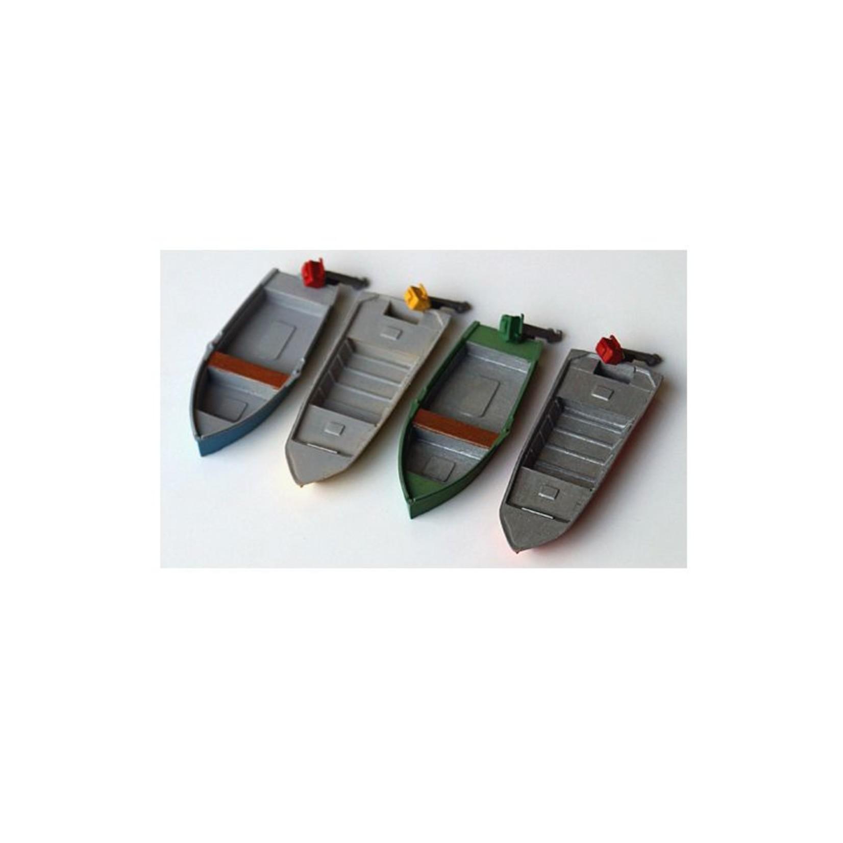4 Stuk Moderne vissersboten