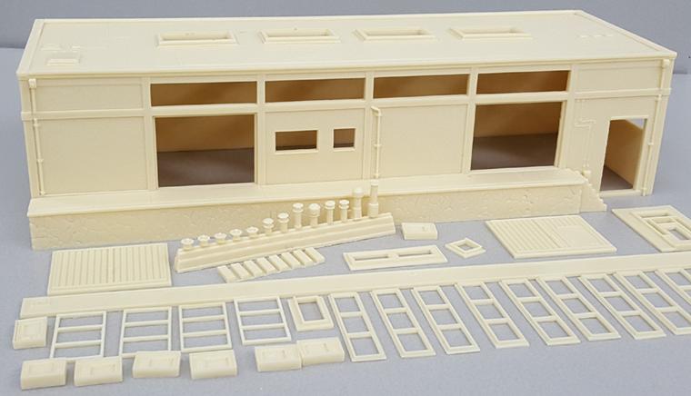 Lijmen resin modelbouwpakket Koelhuis