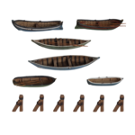 Rowboats 6x pieces