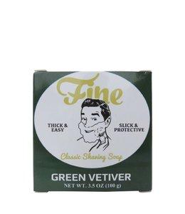 Fine Accoutrements Classic Scheerzeep - Green Vetiver