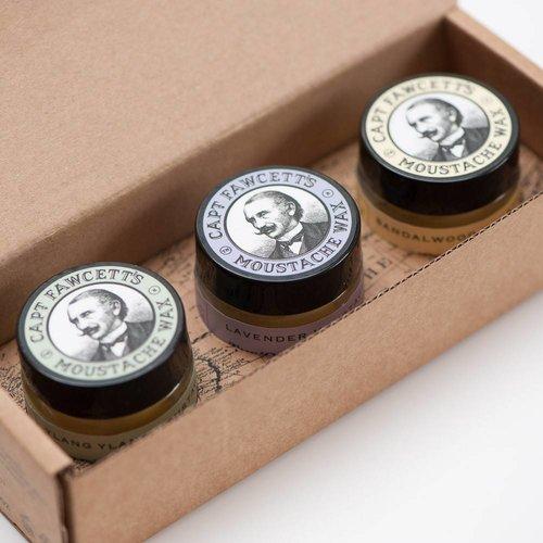 Captain Fawcett Moustache wax Gift Set Cornucopia