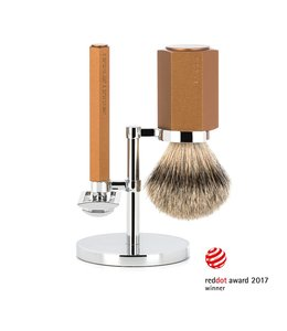 Muhle Hexagon Safety Razor Set - Silvertip - Bronze