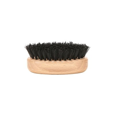 Beard Brush Oval - Light Wood
