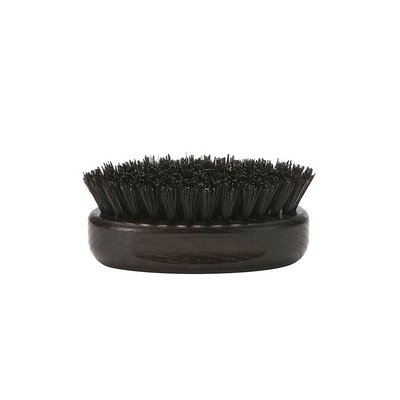 Beard Brush Oval - Dark Wood