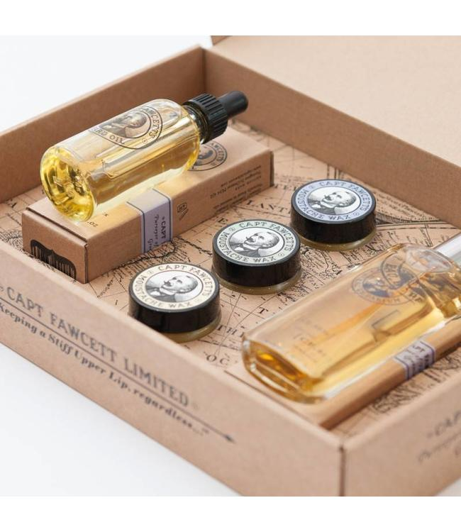 Captain Fawcett Eau De Parfum, Moustache Wax & Beard Oil Gift Set