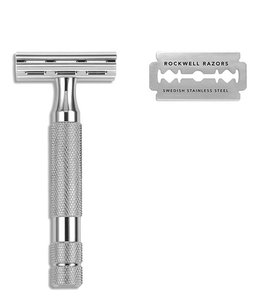 Rockwell Razors 2C Safety Razor - White Chrome