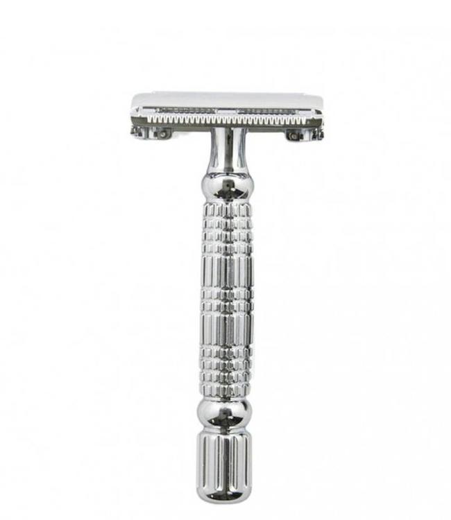 Rockwell Razors R1 Double-Edge Safety Razor - White Chrome