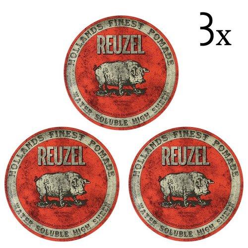 Reuzel Red High Sheen Pomade 3-pack