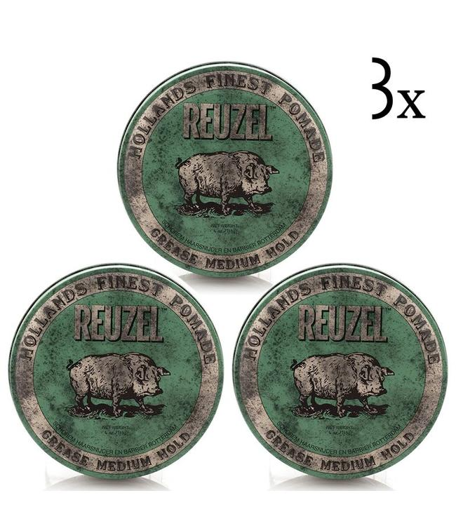 Reuzel Green Grease Medium Hold 3-pack