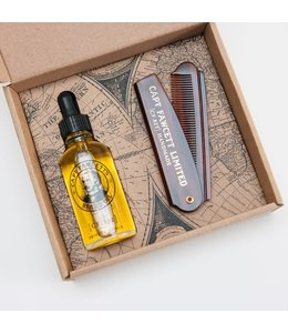 Captain Fawcett Beard Oil & Comb Giftset