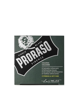 Proraso Refreshing Tissues - Cyrpress & Vetyver (6 pcs)