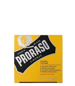 Proraso Refreshing Tissues - Wood & Spice (6 pcs)