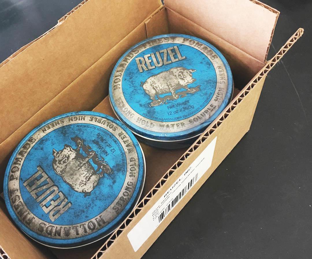Blauwe reuzel verpakking