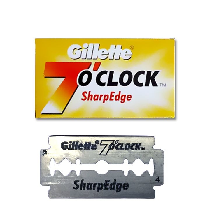 Gilette 7 O'clock super stainless double edge blades
